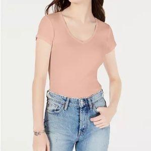 Ultra Flirt  Juniors' Cotton V-Neck Baby T-Shirt